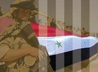Iraqi soldier and flag (photo: DW)