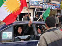 Election campaing of the Turkish Workers Democratic Front in Erbil, Iraq (photo: AP)