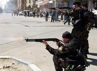 Turkish special forces aiming at Kurdish protesters in Diyarbakir (photo: AP)