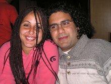 Manal and Alaa, Egyptian bloggers (photo: Mona Naggar)