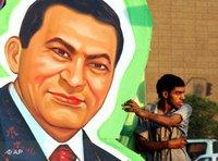 Hosni Mubarak's image in Cairo (photo: AP)