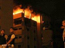 Israeli attack on the Ministry of the Interior of the Palestinian authorities (photo: AP)