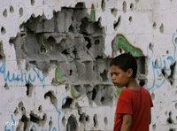 A Palastinian boy in the Gaza Stripe (photo: AP)