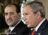 The Shiite Prime Minister of Iraq, Nouri al-Maliki and the president of the United States, George W. Bush (photo: dpa)