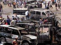 Car bomb site in Sadr City, Baghdad (photo: AP)