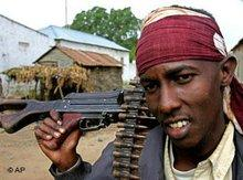 Member of an Islamist militia in Balad, Somalia (photo: AP)