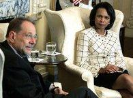 Javier Solana and Condoleezza Rice (photo: AP)
