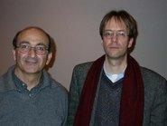 Rashid al-Daif (left), Joachim Helfer (photo: Larissa Bender)