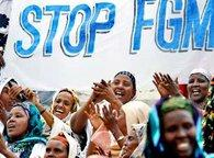 Protest rally against female genital mutilation in Somalia (photo: dpa)