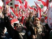 Protests against the Fuad Siniora's government in Beirut (photo: AP)