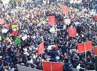 Student demonstration in Teheran, 6th of December 2006 (photo: DW)