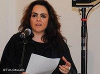 Curator Yael Katz Ben Shalom (photo: Tim Deussen)