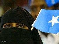 Veiled Somali woman (photo: AP)