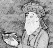 The Persian poet Hafez as portrayed in an edition of the Divan from the eighteenth century