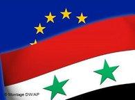 Syrian and EU flag (image: DW/AP)