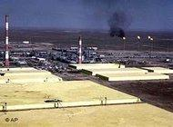 Rectangular slabs of hardened sulfur proliferate at Tengiz, the biggest oil field in Kazakhstan, June 2001 (photo: AP)