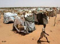View of the Riyad refugee camp in Darfur (photo: AP)