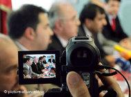During a press conference of Muslim organisations denouncing violence, August 2006, Cologne, Germany (photo: dpa)