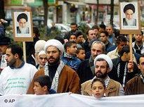 Iranian fundamentalists in Berlin (photo: AP)