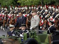 Nicolas Sarkozy during a military parade in Paris (photo: AP)