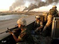British soldiers in Basra (photo: AP)