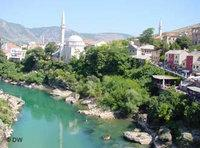View of Mostar and its mosque (photo: Deutsche Welle)
