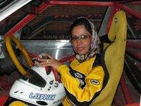 Iranian race car driver Laleh Seddigh (photo: Fatma Sagir)