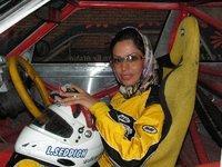 Iranian race car driver Laleh Seddigh (photo: Fatma Sagir)