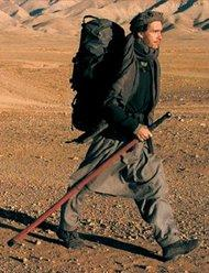 Rory Stewart in Afghanistan (photo from the cover of the German edition of his Afghanistan account; Piper Verlag/Malik)