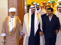 Ahmadinejad (right) with Arab leaders at the GCC meeting in December (Photo: AP)