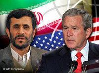 George Bush, Mahmoud Ahmadinejad (photo: AP)
