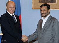 Vladimir Putin and Mahmoud Ahmadinejad (photo: AP)