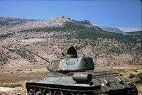 Old Soviet tank in the Golan Heights (photo: RobW)