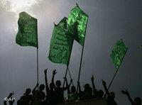 Hamas followers in Gaza city (photo: AP)
