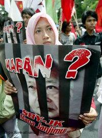 Student protesters in Jakarta (photo: picture-alliance)