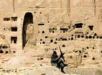 Destroyed by Taliban: Buddha statues in Bamiyan, Afghanistan (photo: AP)