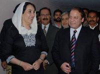 Benazir Bhutto and Nawaz Sharif (photo: AP)