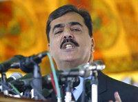 Prime minister Syed Yusuf Raza Gilani (photo: AP)