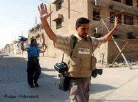 A journalist in Najaf (Photo: dpa)
