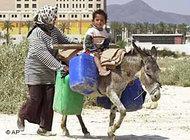 Bringing water home in Palestine (Photo: AP)