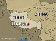 Map of Tibet/China (photo: AP)
