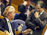 Geert Wilders, left, and Alexander Pechtold (photo: AP)