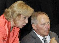 Wolfgang Schäuble, right, and Maria Böhmer during a Islam conference meeting in Berlin (photo: AP)