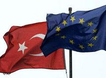 Turkey and EU - flags (photo: AP)