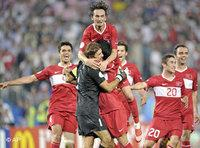 Turkey defeated Croatia in a penalty shoot-out following a remarkable last few minutes of extra-time in Vienna Friday (photo: AP)