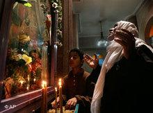Copts praying in Egypt (photo: AP)