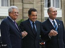 Sarkozy, Abbas and Olmert (photo: AP)