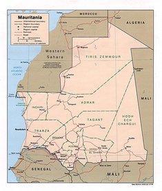 Map of Mauritania (Courtesy of the University of Texas Libraries, The University of Texas at Austin)