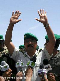 The Mauritanian head of presidential guards, General Mohamed Ould Abdel Aziz, new leader of Mauretania (photo: dpa)