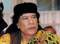 Libyan president Moammar Gadhafi during the opening of a two-day special summit of the fledgling African Union in 2003 (photo: AP)